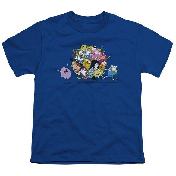 Adventure Time Glob Ball Short Sleeve Youth Royal T-Shirt