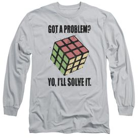 Rubiks Cube Problem Solver Long Sleeve Adult T-Shirt