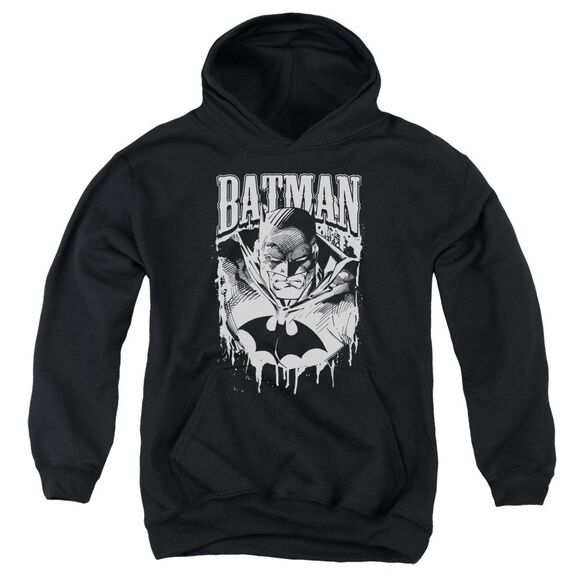 Batman Bat Metal Youth Pull Over Hoodie