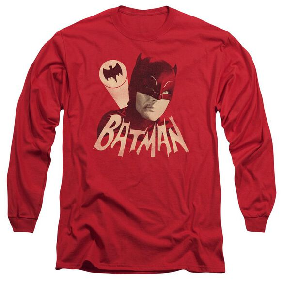 Batman Classic Tv Bat Signal Long Sleeve Adult T-Shirt