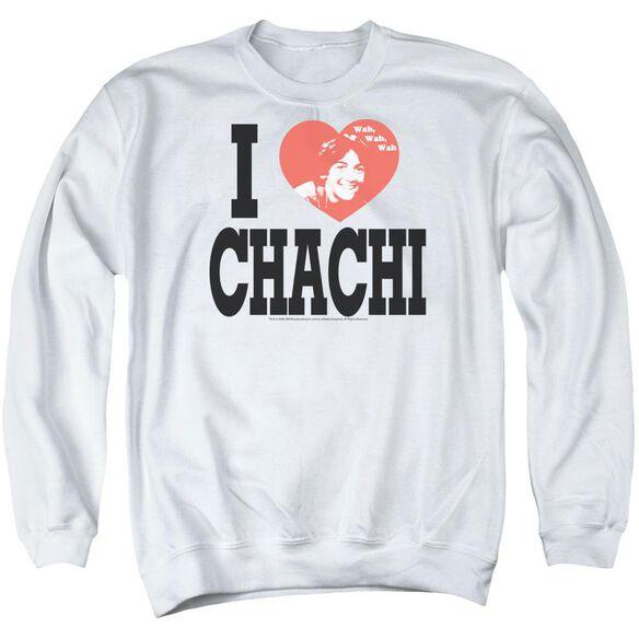 Happy Days I Heart Chachi Adult Crewneck Sweatshirt