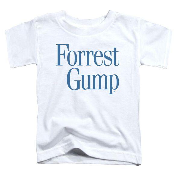 Forrest Gump Logo Short Sleeve Toddler Tee White Sm T-Shirt