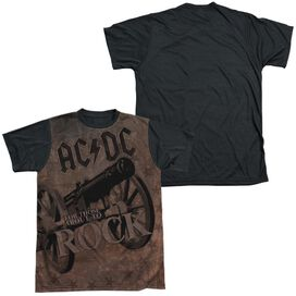 Acdc We Salute You Short Sleeve Adult Front Black Back T-Shirt