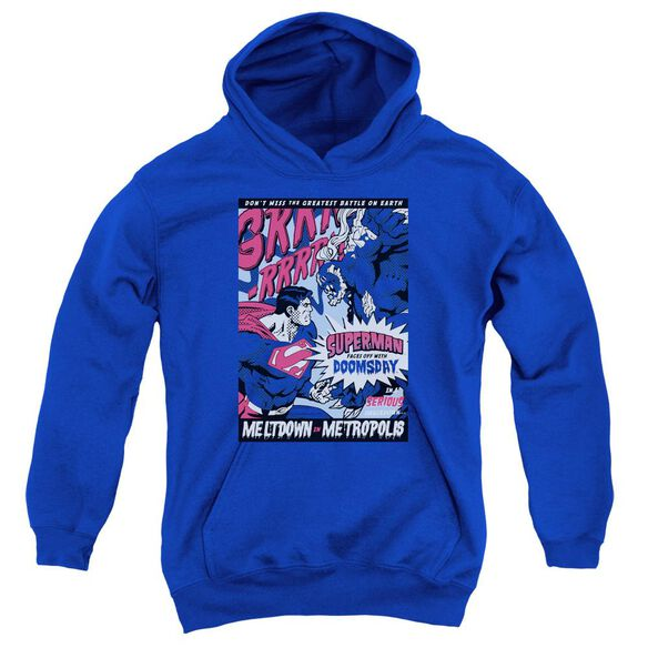 Superman Meltdown Youth Pull Over Hoodie