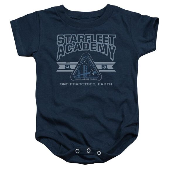 Star Trek Starfleet Academy Earth Infant Snapsuit Navy