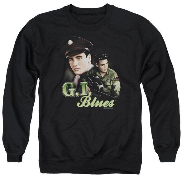 Elvis G I Blues Adult Crewneck Sweatshirt