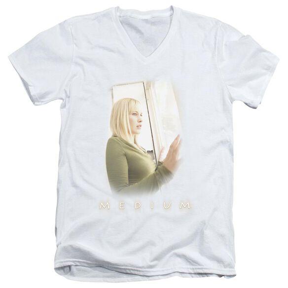Medium Light Short Sleeve Adult V Neck T-Shirt
