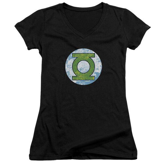 Dco Gl Neon Distress Logo Junior V Neck T-Shirt