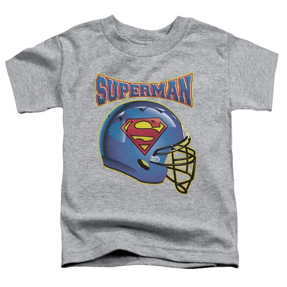 Superman Helmet Short Sleeve Toddler Tee Athletic Heather Sm T-Shirt