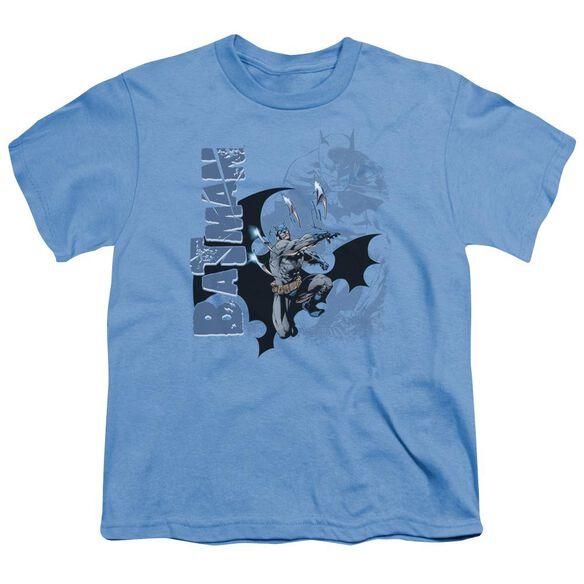 Batman Throwing Blades Short Sleeve Youth Carolina T-Shirt