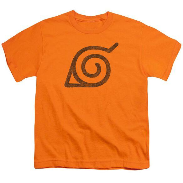 Naruto Shippuden Distressed Leaves Symbol Short Sleeve Youth T-Shirt
