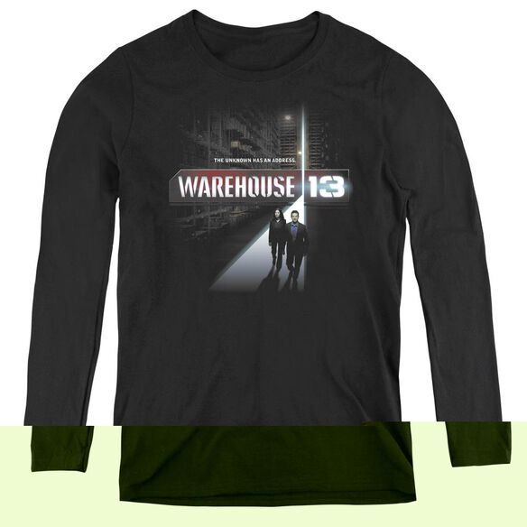 Warehouse 13 The Unknown - Womens Long Sleeve Tee - Black