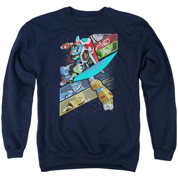 Voltron Crisscross Adult Crewneck Sweatshirt