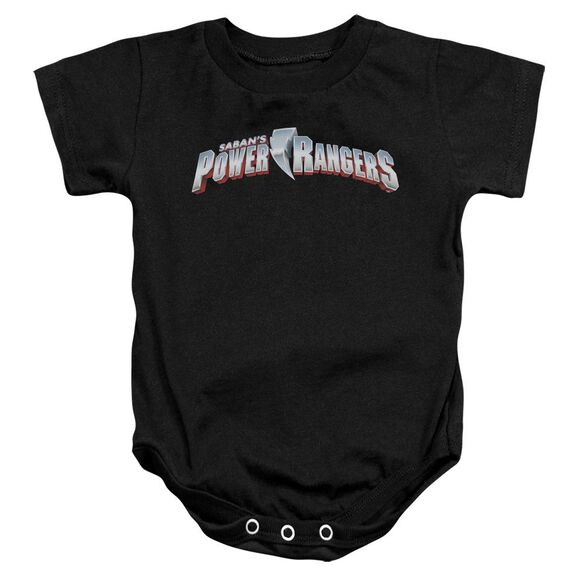 Power Rangers New Logo Infant Snapsuit Black