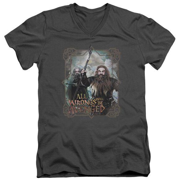 The Hobbit Wrongs Avenged Short Sleeve Adult V Neck T-Shirt