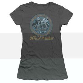 LITTLE RASCALS HE MAN WOMAN HATERS - S/S JUNIOR SHEER - CHARCOAL T-Shirt