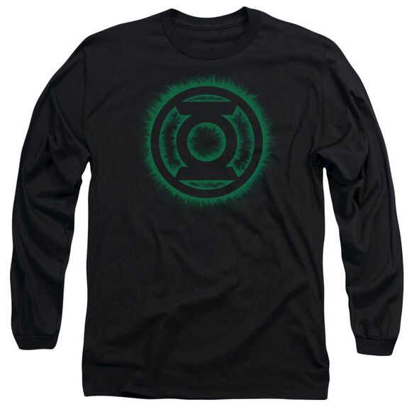Green Lantern Green Flame Logo Long Sleeve Adult T-Shirt
