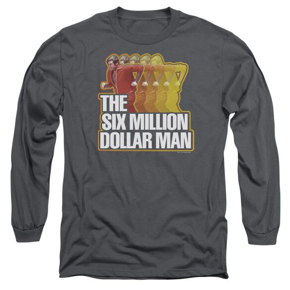 Six Million Dollar Man Run Fast Long Sleeve Adult T-Shirt