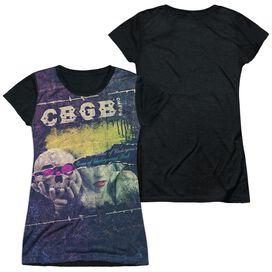 Cbgb Torn Short Sleeve Junior Poly Black Back T-Shirt
