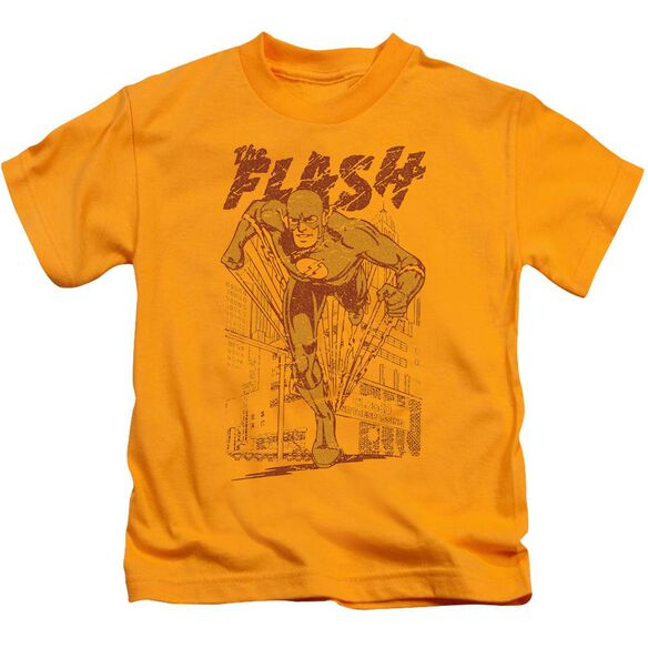 Dc Flash Busting Out Short Sleeve Juvenile T-Shirt