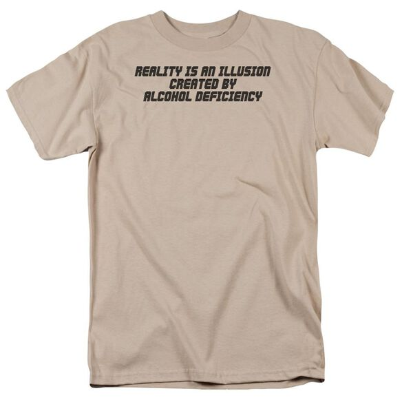 Reality Is An Illusion Short Sleeve Adult Sand T-Shirt