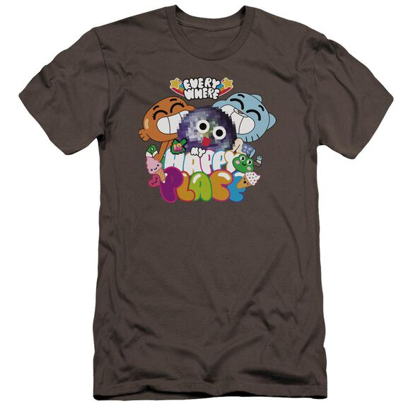 Amazing World Of Gumball Happy Place Hbo Short Sleeve Adult T-Shirt