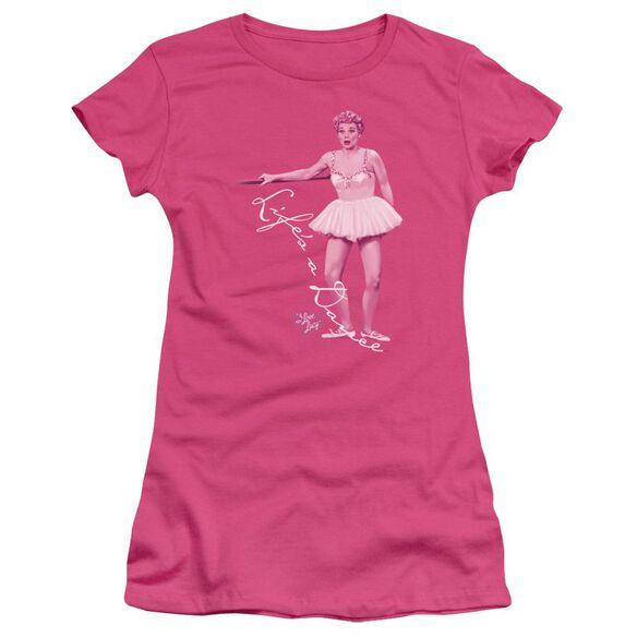 I Love Lucy Life's A Big Dance Short Sleeve Junior Sheer Hot T-Shirt