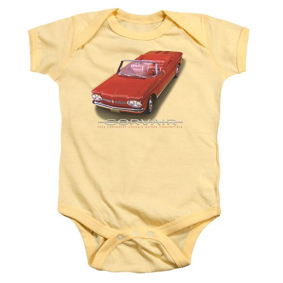 Chevrolet 62 Corvair Convertible Infant Snapsuit Banana