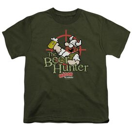 Hagar The Horrible Beer Hunter Short Sleeve Youth Military T-Shirt