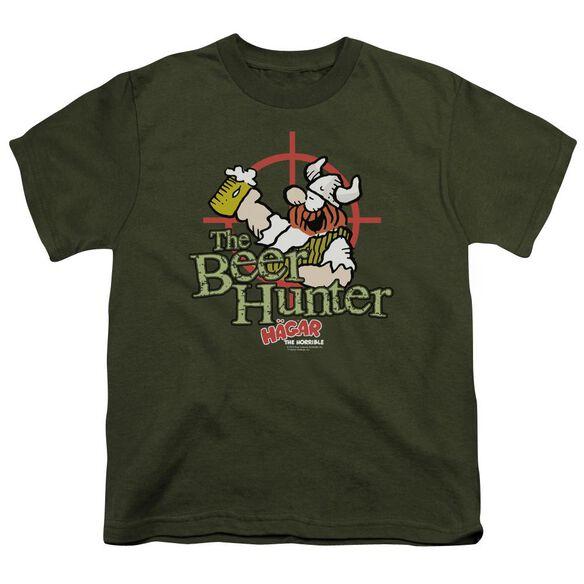 Hagar The Horrible Beer Hunter Short Sleeve Youth Military T-Shirt