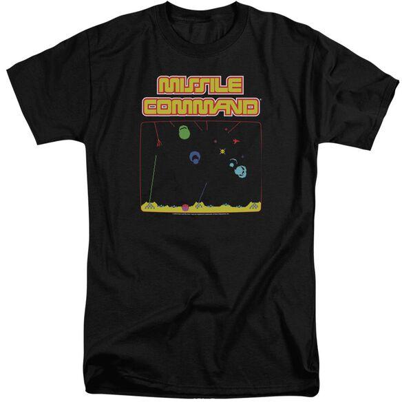 Atari Missle Screen Short Sleeve Adult Tall T-Shirt