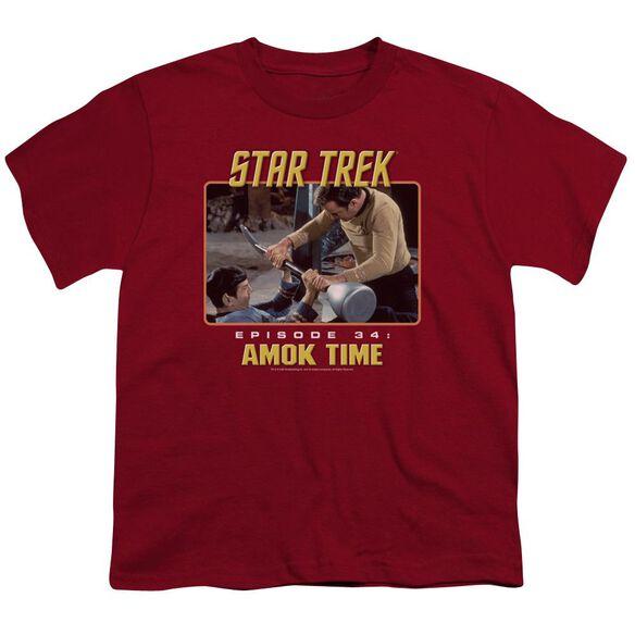 St Original Amok Time Short Sleeve Youth T-Shirt