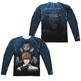 Death Note Evil Follows (Front Back Print) Long Sleeve Adult Poly Crew T-Shirt