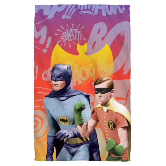 Batman Classic Tv Biff Bang Pow Towel White