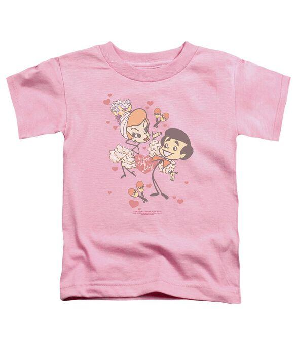I Love Lucy Rumba Dance Short Sleeve Toddler Tee Pink T-Shirt