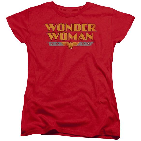 Dc Wonder Woman Logo Short Sleeve Womens Tee T-Shirt
