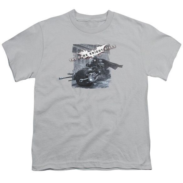 Dark Knight Rises Batpod Breakout Short Sleeve Youth T-Shirt