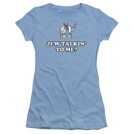 Jew Talkin Short Sleeve Junior Sheer Carolina T-Shirt