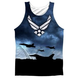 Air Force Take Off Adult 100% Poly Tank Top