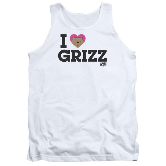 We Bare Bears Heart Grizz Adult Tank