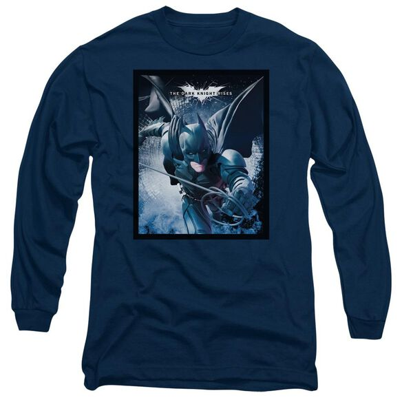 Dark Knight Rises Swing Into Action Long Sleeve Adult T-Shirt