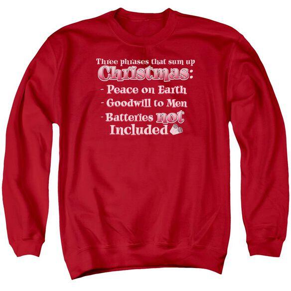 Three Phrases Adult Crewneck Sweatshirt