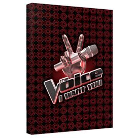 Voice Logo Canvas Wall Art With Back Board