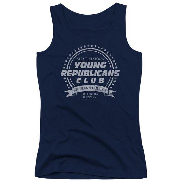 Family Ties Young Republicans Club - Juniors Tank Top - Navy