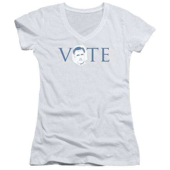 Vote Romney Junior V Neck T-Shirt