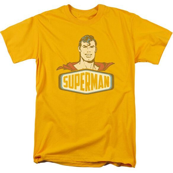 Dco Superman Sign Short Sleeve Adult Gold T-Shirt