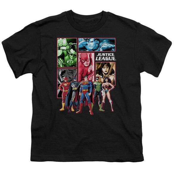 Jla Justice League Panels Short Sleeve Youth T-Shirt