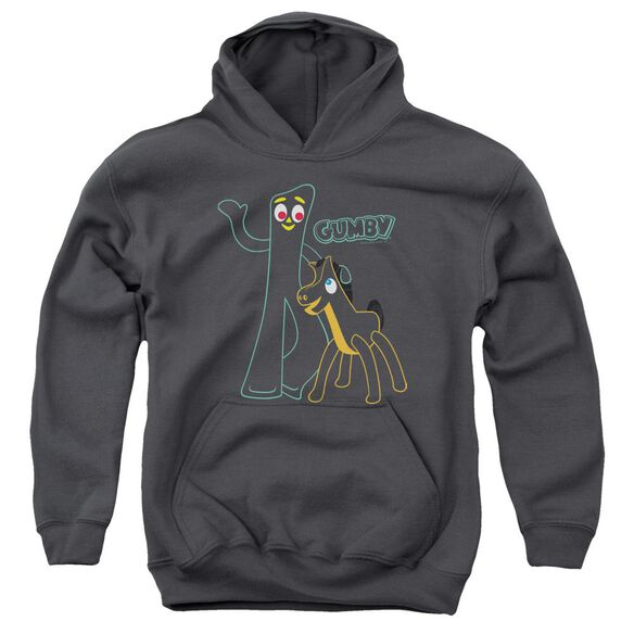 Gumby Outlines Youth Pull Over Hoodie
