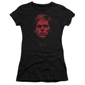 Dexter Bloody Face Short Sleeve Junior Sheer T-Shirt