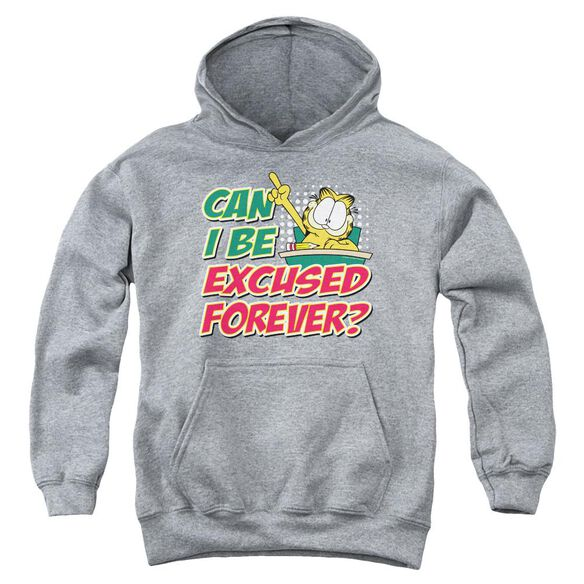 Garfield Excused Forever Youth Pull Over Hoodie